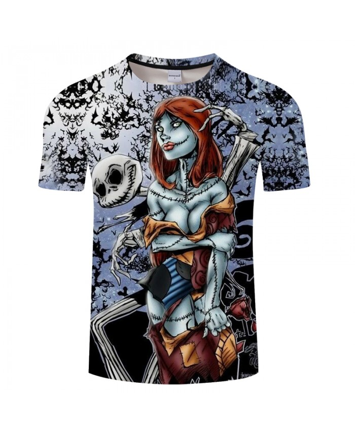 Skull Lover 3D Print T shirt Men T-shirt Brand Tops Tee Anime Streetwear Summer Short Sleeve tshirt O-neck Drop Ship