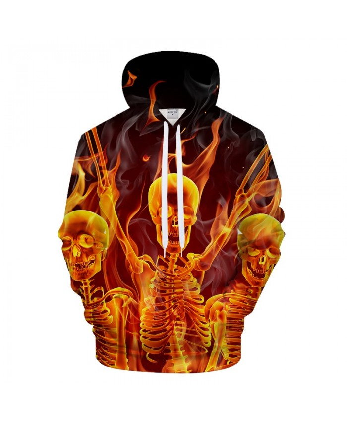 Skull Men 3D Hoodies Print Hoody Casual Sweatshirt Brand Tracksuit Pullover Hoodie Groot Coat Collection DropShip