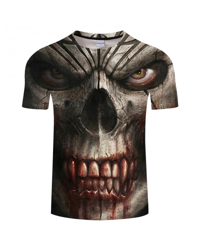 Skull Men tshirt 3D Print t shirt Summer T-Shirt Casual Tops ShortSleeve Tee O-neck Streetwear Blood Groot Drop Ship