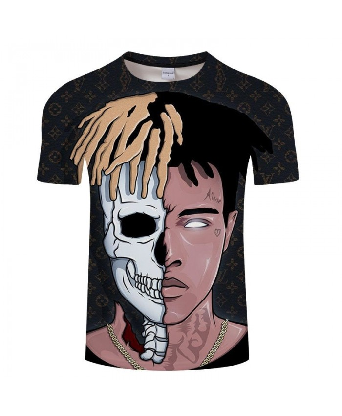 Skull Print Men t shirt Travel Casual T-Shirt Anime Unisex Sweatshirts O-neck Tops Brand Fashion Short t shirts