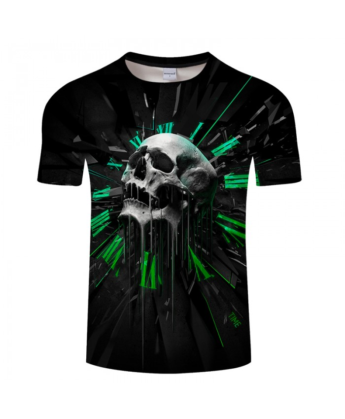 Skull Printed 3D T shirt Men Women T-shirts Brand Tops Casual Tees Novelty Streetwear Fashion T shirts Drop Ship 6xl