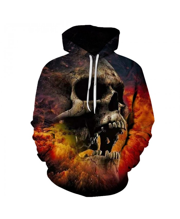 Skull Printing Mens Hoodie 3D Fashion Drop Ship Sweatshirts 2021 Men Clothing Streetwear Hoody Pullover Plus Size