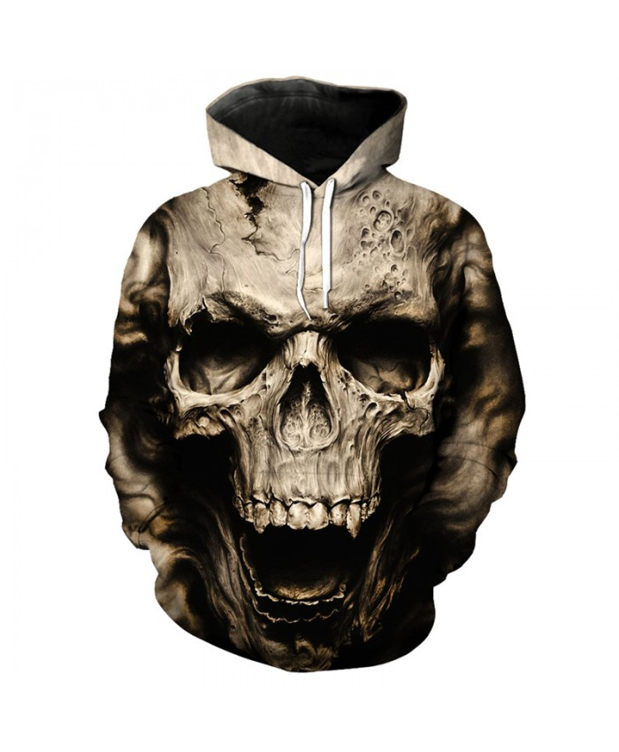 Skull Series Fashion Hooded Sweatshirt Hip hop Streetwear Skull Printed Pullover Tracksuit Pullover Hooded Sweatshirt