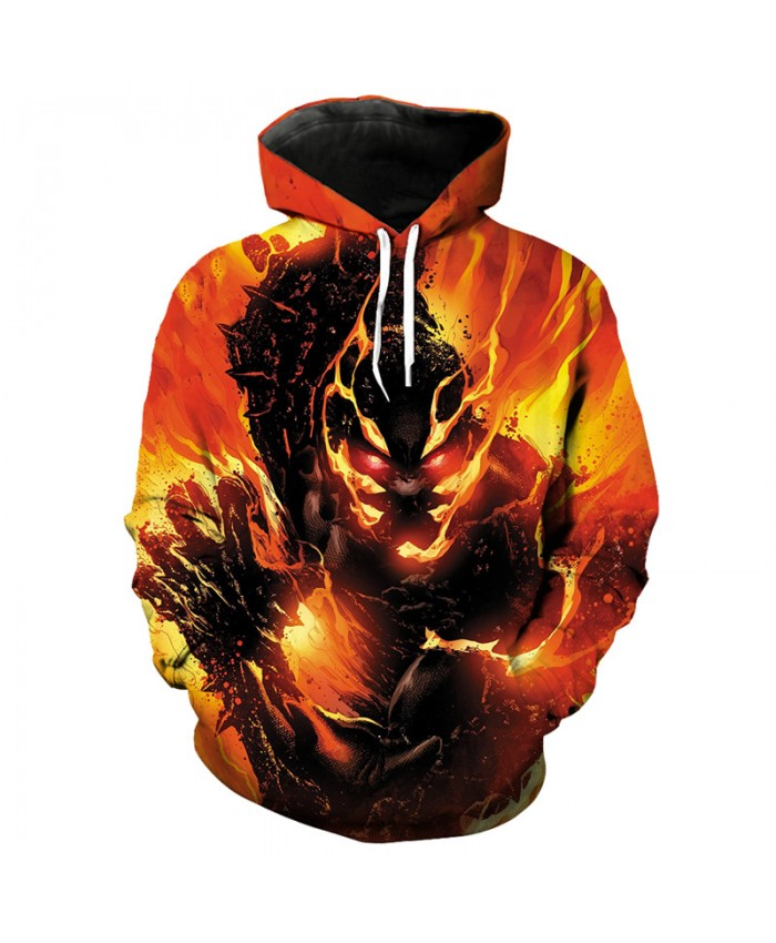 Skull Series Flame Ghost Fashion 3D Hooded Sweatshirt Hip hop Pullover Tracksuit Pullover Hooded Sweatshirt