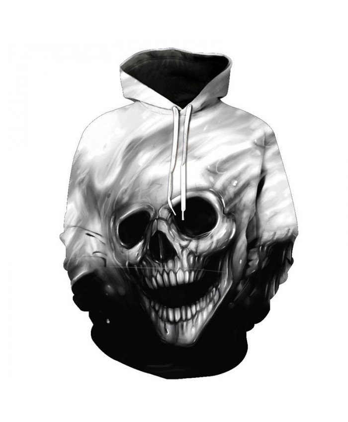 Skull Style Fashion Men's Hooded Sweatshirt Smile Skull Hot Selling Pullovers Tracksuit Pullover Hooded Sweatshirt