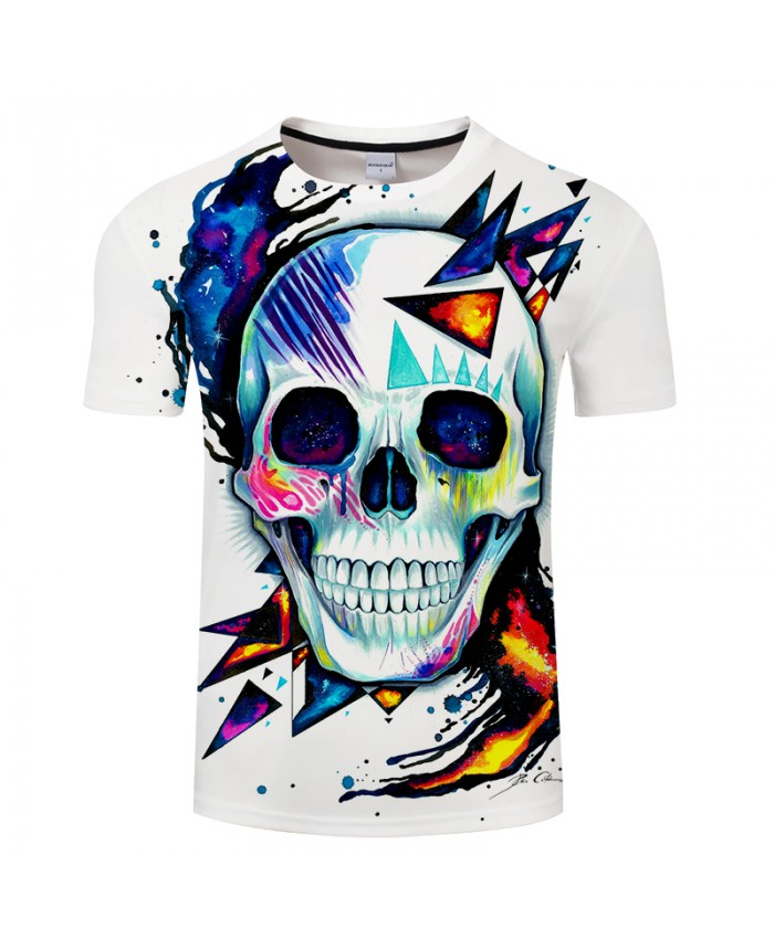 Skull by Pixie cold Art Mens Tshirts 3D Prints tshirt Brand 2021 Casual Tees Tops Men Clothing Drop Ship