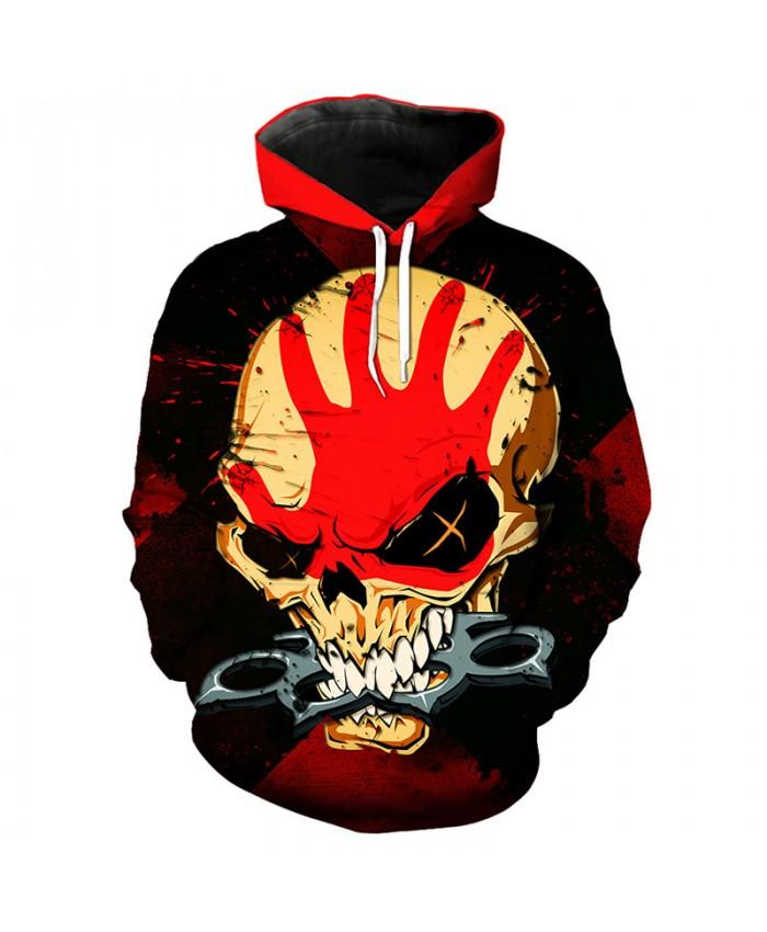Skull series fashion men's hooded sweatshirt cool pullover sportswear Tracksuit Pullover Hooded Sweatshirt