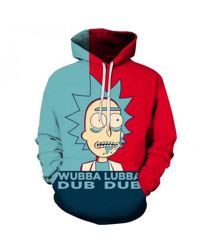 Slobber Rick And Morty 3D Print Men Pullover Sweatshirt Mens Custom Pullover Hoodie Streetwear Sweatshirt Casual