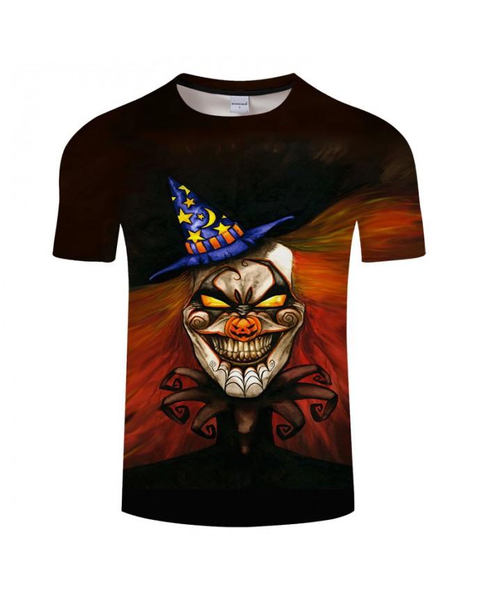 Smile Halloween 3D Print T shirts Men T-shirts Brand Tops Tee Streetwear Summer Short Sleeve tshirt O-neck Drop Ship