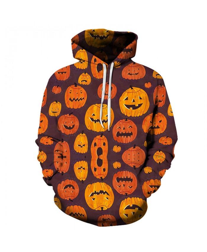 Smile Pumpkin 3D Print Hoodies Men Hoody Harajuku Hoodie Streatwear Sweatshirt Tracksuit Pullover Hip Hop Dropship