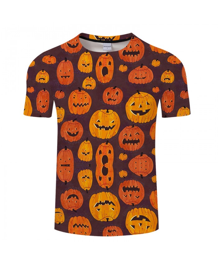 Smile Pumpkin 3D Print T shirts Men T-shirts Brand Top Tees Streetwear Summer Short Sleeve tshirt O-neck Drop Ship
