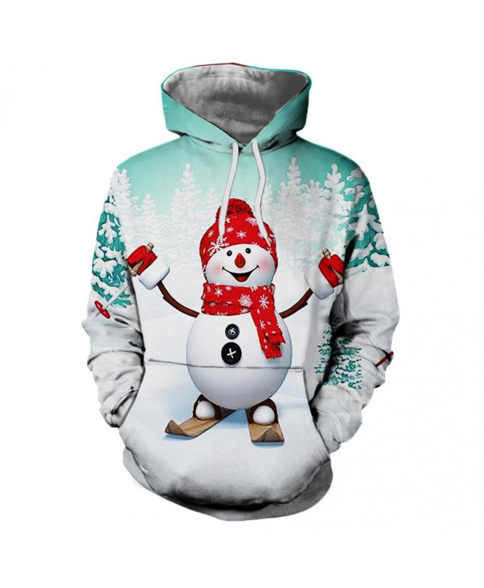 Smiling Snowman Christmas Hoodies 3D Sweatshirts Men Women Hoodie Print Couple Tracksuit Hooded Hoody Clothing