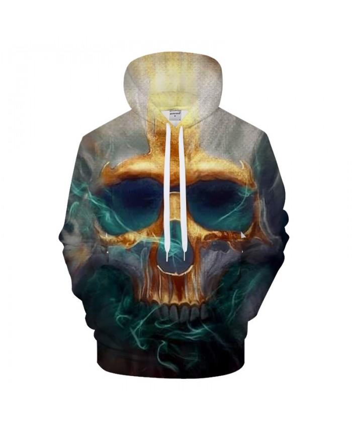 Smoky Groot Hoody Men 3D Hoodie Skull Print Tracksuit Casual Sweatshirt LongSleeve Coat Streatwear Pullover DropShip
