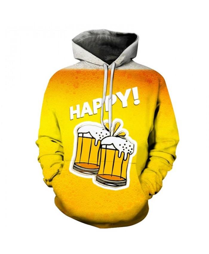 Snowflake Beer 3D Print Men Pullover Sweatshirt Pullover Hoodie Casual Fashion Men Hoodie Streetwear Sweatshirt