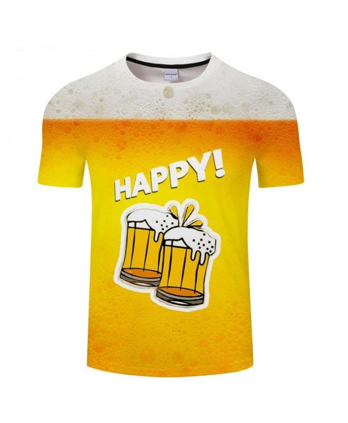 Snowflake Beer 3D Print Men tshirt Crossfit Shirt Casual Summer Short Sleeve Male tshirt Brand Men Round Neck Loose