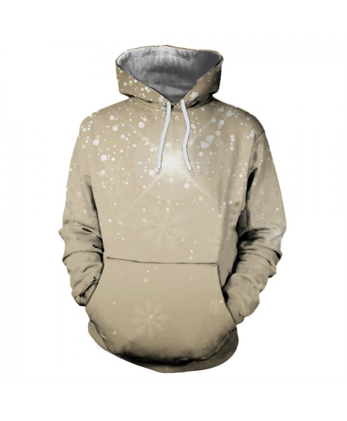 Snowflake Pattern Christmas Hoodies 3D Sweatshirts Men Women Hoodie Print Couple Tracksuit Hooded Hoody Clothing