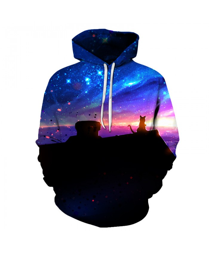 Space Cat Printed 3D Men Women Hoodies Fashion Csual Sweatshirt Male Pullover Funny Tracksuit Autumn Streetwear Brand Plus Coat
