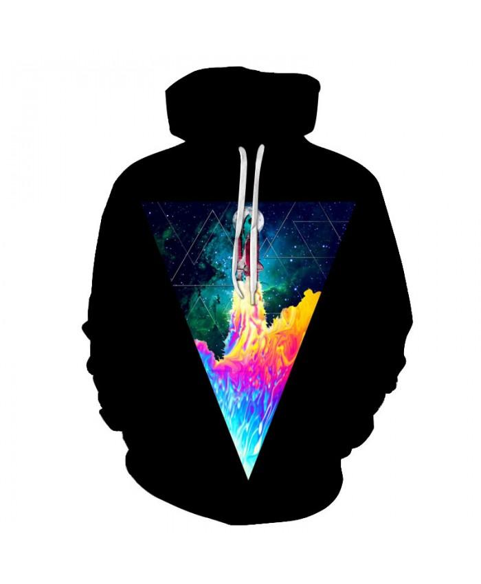 Space Hoodies Colorful Sweatshirts Men Women Pullover Hooded Tracksuits Pocket Jackets 3D Printed Male Outwear Brand Streetwear