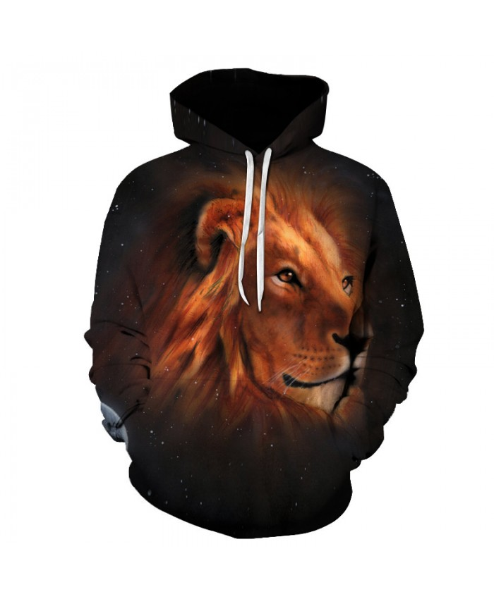 Space Lion Printed 3d Sweatshirts Men Hooded Outwear Fashion Casual Hoodies Unisex Quality Tracksuits Cool Pullover