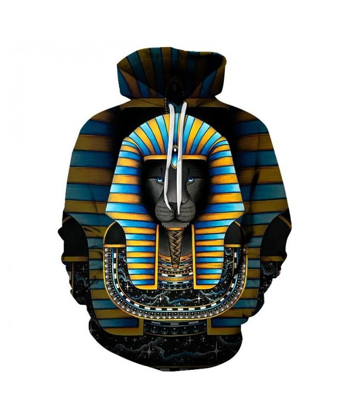 Sphinx Art Unisex Hoodie 3D Print Sweatshirts Pullover Harajuku Mens Hoody Streetwear Coat for Autumn