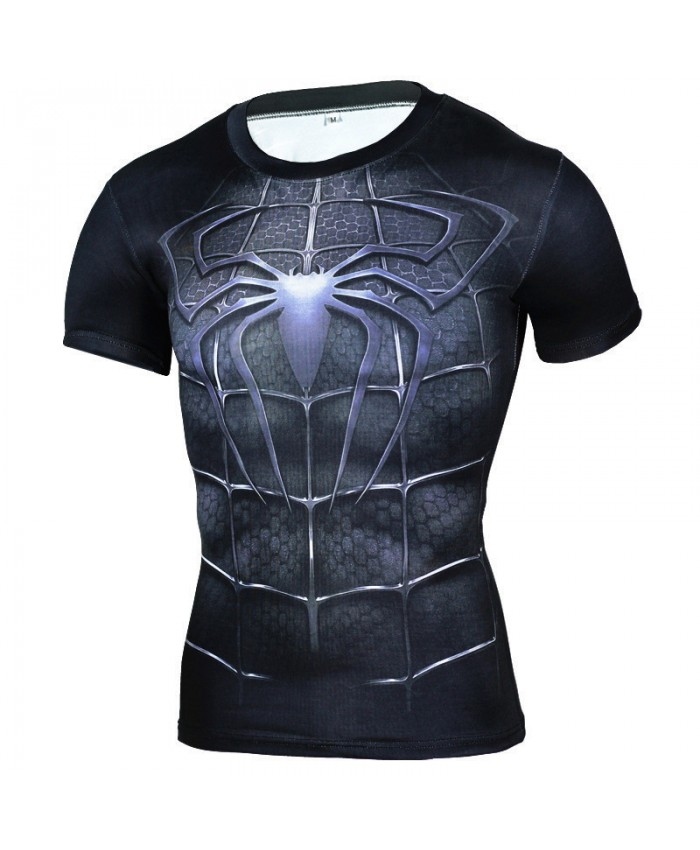 Spider-Man Compression Shirt for Men Tshirts 3D Short Sleeve Tees