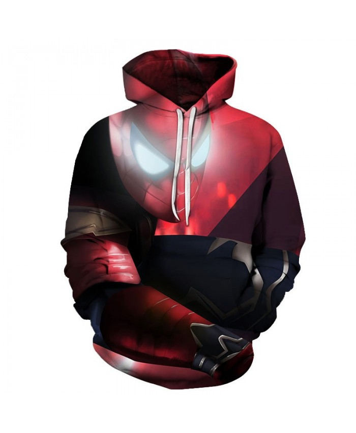 Spider-Man 3D Print Sup Hoodie Men's Sweatshirt Hoodies End Game Casual Hoodies Men Avengers Hoodie Mens Pullover Sweatshirt