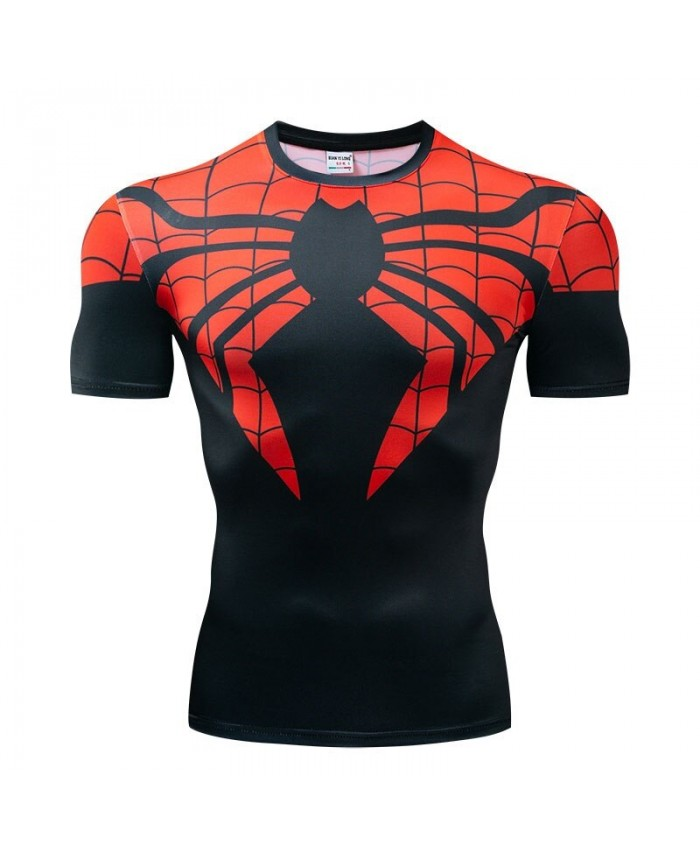 Spider-Man Avengers Endgame shirt Men Tops Short Sleeve Mens Tees Fitness Compression T-Shirt The Avengerst Bodybuilding