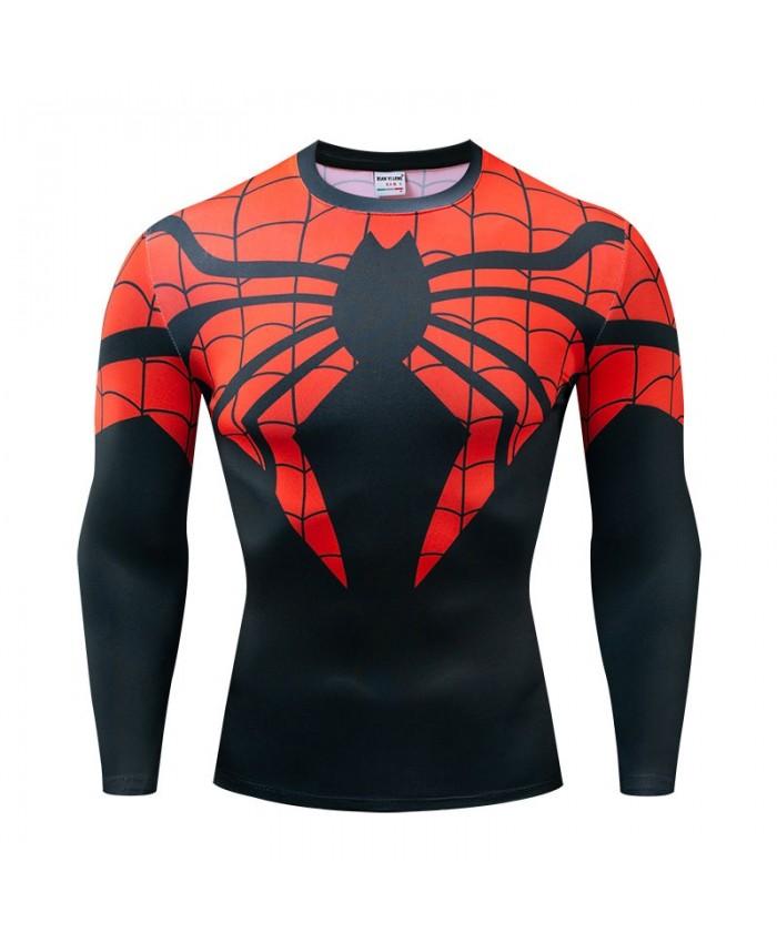 Spider man Long Sleeve Men Avengers Endgame Fitness Compression Bodybuilding Tops The Avengers Long Sleeve Tee Brand Fashion