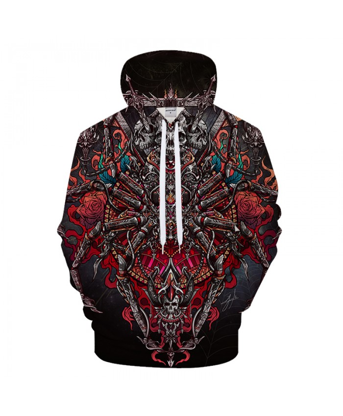 Spider posterF23 By jml2 Arts Skull 3D Print Hoodies Men Women Anime Sweatshirt Brand Tracksuits Pullover Jacket Coat Streatwear