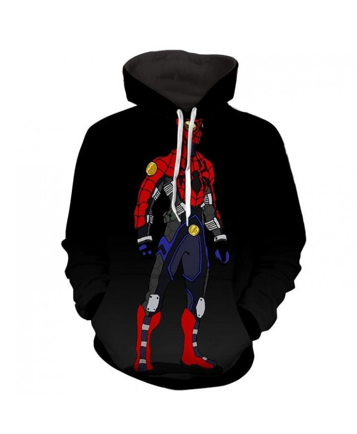 Spiderman Robot Comics Art 3D Print Hoodie Sweatshirt Jacket Pullover
