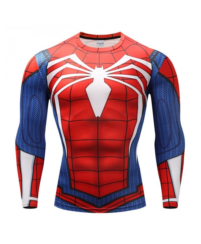Spiderman T shirts Men Compression T-shirts Fitness Spider Man T-shirts Bodybuilding Top Hot Sale rashguard Brand