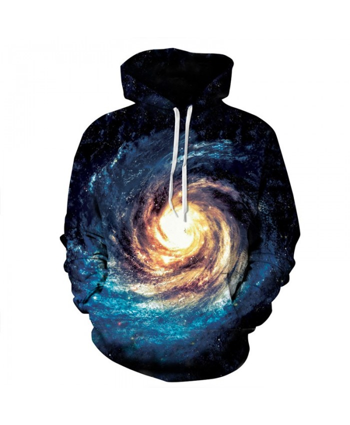 Spiral Galaxy 3D Print Hoodies Men Women Pretty Hooded Sweatshirt Hip-Hop Pullover