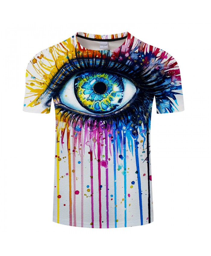 Splash Teardrop&eye 3D Print t shirt Men Women tshirts Summer Funny Short Sleeve O-neck Tops&Tee Camisetas Drop Ship