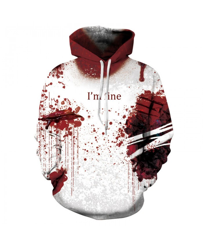 Splash blood dot print Halloween series fashion streetwear cool hooded sweatshirt