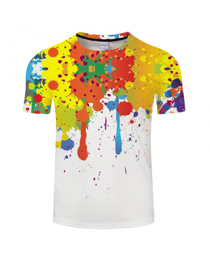 Splash ink 3D T shirts Fashion Printed Tops Brand T-shirt Brand Top Tee High Quality 6XL T shirts Drop Ship Fashion