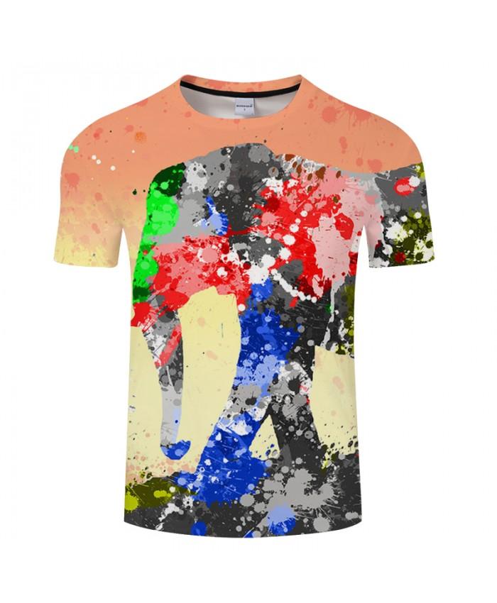 Splash paint T shirts Men 3D T-shirt Male Fashion Tops Tee Casual Brand Camisetas Short Sleeve 6XL Round Neck Tshirt