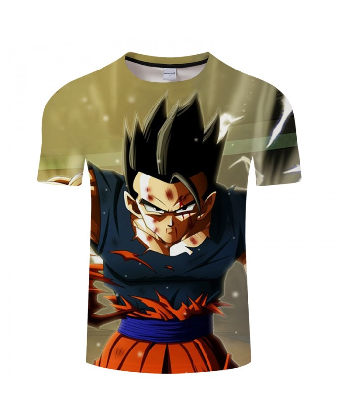 Spring Goku 3D Print T shirt Men Summer Anime Short Sleeve Tops&Tees Tshirts Saiyan Dragon Ball Drop Ship Loose 2021