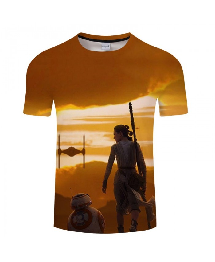 Star Wars 3D Print Going Alone T Shirt Men tshirt Summer Casual Slim Men Short Sleeve O-neck Tops&Tee 2021 Hot Sell Drop Ship