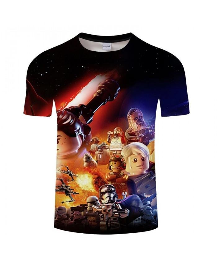 Star Wars 3D Print T Shirt Men Women tshirt Summer Casual T Shirt Short Sleeve Slim Men O-neck Tops&Tee Drop Ship