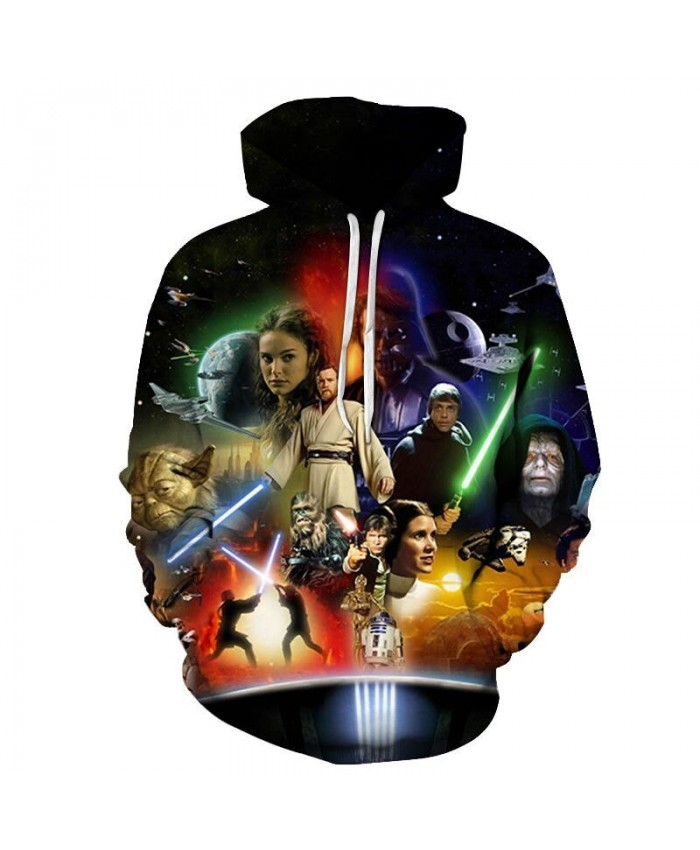Star Wars 3D Printed Mens Pullover Sweatshirt Clothing for Men Custom Autumn Winter 2021 Pullover Hoodie Drop Ship