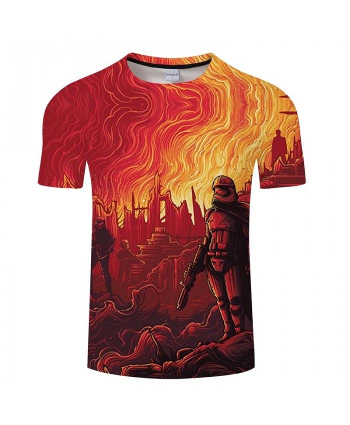 Star Wars A Flame 3D Print T Shirt Men Women tshirt Summer Casual Elastic Waist T Shirt Short Sleeve O-neck Tops&Tee Drop Ship