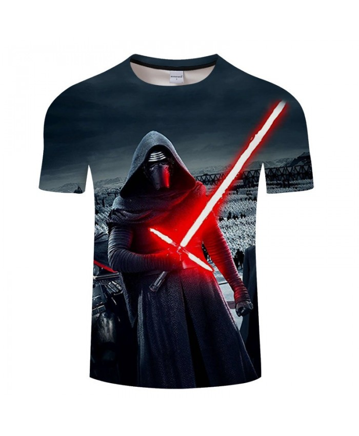 Star Wars A Sword That Scatters Red Light 3D Print T Shirt Men tshirt Summer Casual Short Sleeve O-neck Tops&Tee Drop Ship