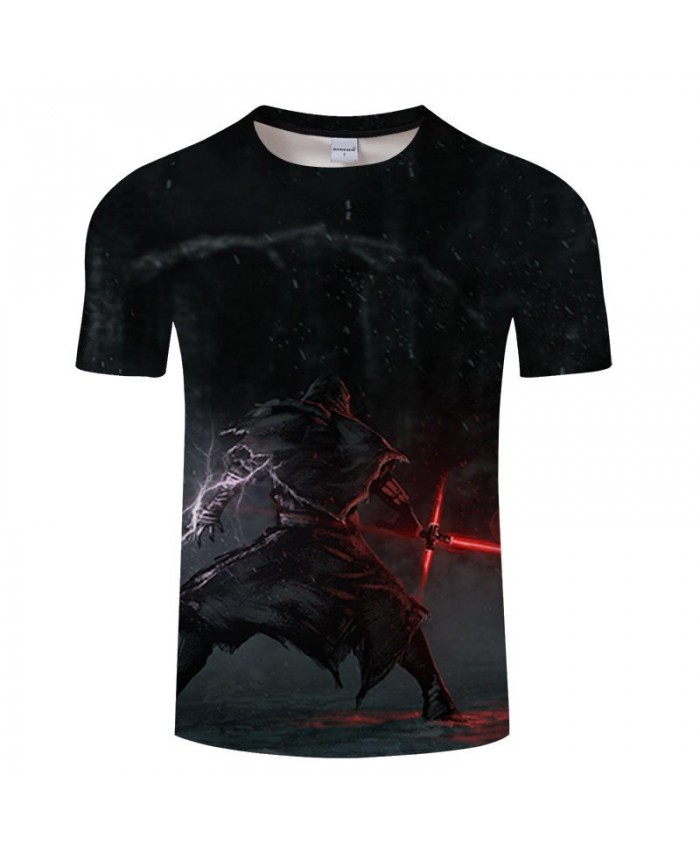 Star Wars Cross Sword 3D Print T Shirt Men tshirt Summer Casual Slim Men Short Sleeve O-neck Tops&Tee 2021 Hot Sell Drop Ship