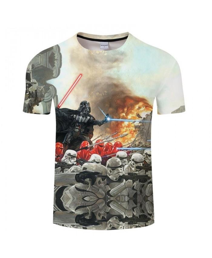 Star Wars Firepower 3D Print T Shirt Men tshirt Summer Casual Slim Men Short Sleeve O-neck Tops&Tee 2021 Hot Sell Drop Ship