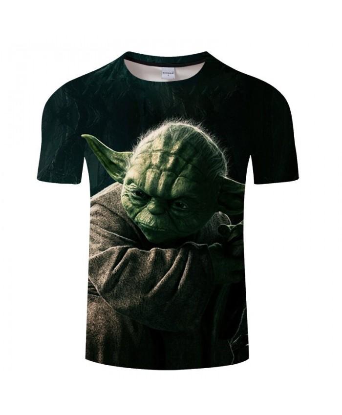 Star Wars Long Ears 3D Print T Shirt Men tshirt Summer Casual Slim Short Sleeve O-neck Tops&Tee Black 2021 Hot Sell Drop Ship