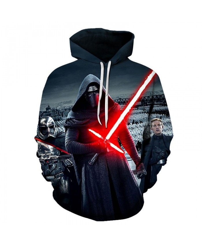Star Wars Red-haired Sword 3D Printed Mens Pullover Sweatshirt Clothing for Men Custom Pullover Hoodie Drop Ship