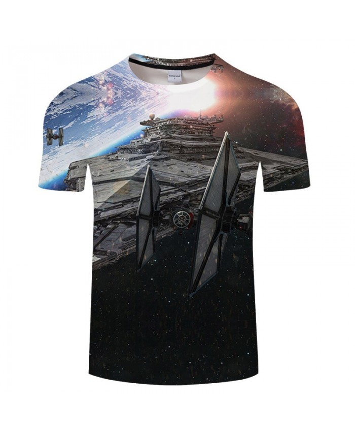 Star Wars Spaceship 3D Print T Shirt Men tshirt Summer Casual Slim Men Short Sleeve O-neck Tops&Tee 2021 Hot Sell Drop Ship