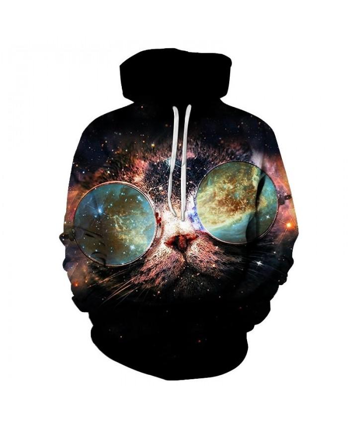 Starry Glare Cat 3D Printed Mens Pullover Sweatshirt Pullover Casual Hoodie Men Streetwear Sweatshirt 2021 Hoodie