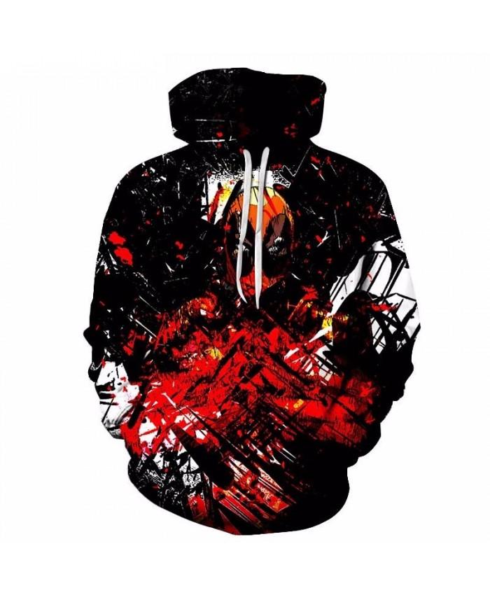 Strange People Mens Pullover Sweatshirt hoodies Pullover Sweatshirt Casual Hoodie Long Sleeve Anime Men Tops Sell Dead Pool