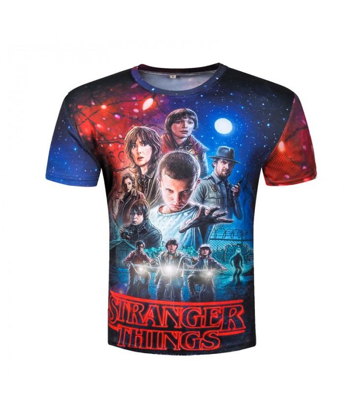 Stranger Things T-shirts Men Tops Movie T shirt Funny Camisetas 2018 Short Sleeve Round Neck Harajuku Top Summer Tee